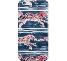 SPEEDY CHEETAHS - NAVY iPhone Case/Skin