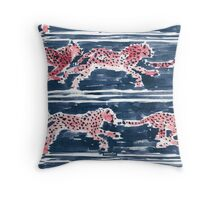 SPEEDY CHEETAHS - NAVY Throw Pillow