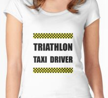 Triathlon Taxi Driver Women's Fitted Scoop T-Shirt