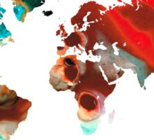 Map of The World 5 -Colorful Abstract Art Sticker