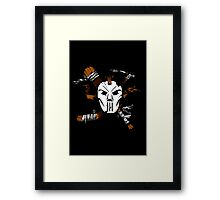 Masked Chaos Framed Print