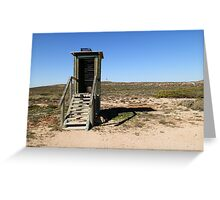 Dunny at Point Quobba, Western Australia Greeting Card