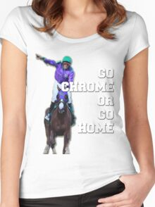 Go Chrome or Go Home Women's Fitted Scoop T-Shirt
