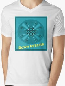 down to earth Mens V-Neck T-Shirt