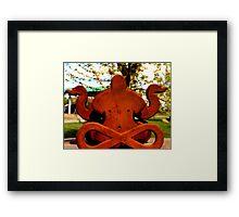 Rusty Zen Framed Print