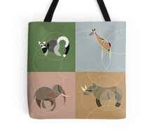 Going round in circles at the zoo x4 Tote Bag