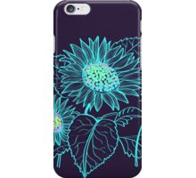 Teal Sunflowers iPhone Case/Skin