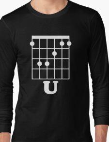 Fun Guitar, Say F*ck You With Guitar Chord Long Sleeve T-Shirt