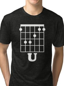 Fun Guitar, Say F*ck You With Guitar Chord Tri-blend T-Shirt