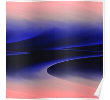 Pink blue abstract Poster