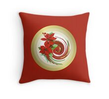 Christmas Swirl Throw Pillow