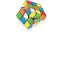 Wet Rubik's Cube Photographic Print