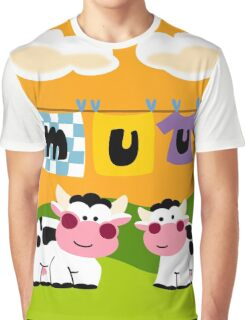 Laundy Cows Graphic T-Shirt