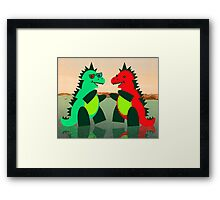 Dino Party at Sea Framed Print