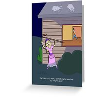 Little Bo-Peep (in search of sheep) Greeting Card