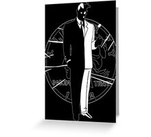 Two Face and Coin Greeting Card