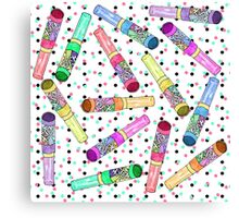 Retro 80's 90's Neon Colorful Push Candy Pop Canvas Print