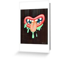 I Can't Taste My Mouf Greeting Card