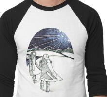 Exploding Moon Men's Baseball ¾ T-Shirt