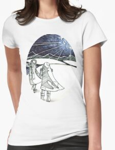 Exploding Moon Womens Fitted T-Shirt