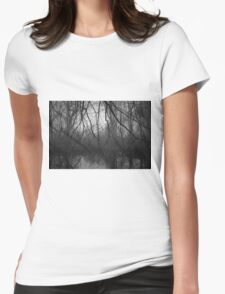 Three Mile River III BW Womens Fitted T-Shirt