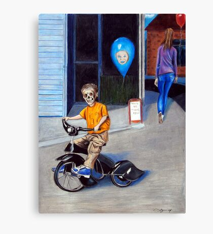Timmys New Tricycle Canvas Print