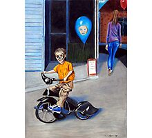 Timmys New Tricycle Photographic Print