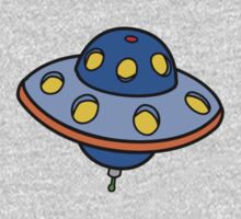 Cartoon UFO Flying Saucer Kids Tee