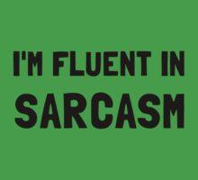 Fluent In Sarcasm Baby Tee