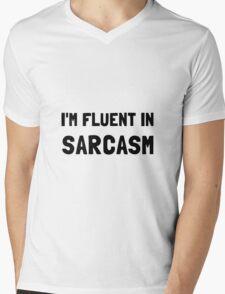 Fluent In Sarcasm Mens V-Neck T-Shirt