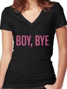 Boy bye Women's Fitted V-Neck T-Shirt
