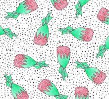 Watercolor Retro Strawberry Hard Candy Pattern Sticker