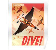 """Flash Gordon - Prince Vultan """"HAWKMEN DIVE!"""" Poster"""