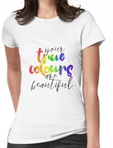 True Colours Womens Fitted T-Shirt