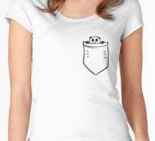 Peeking Pocket Panda Women's Fitted Scoop T-Shirt