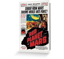 Red Planet Mars! Greeting Card