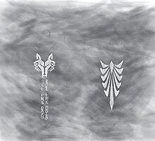 Grey Wolf Leggings by DeezLees