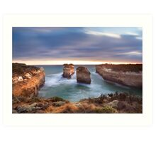 Loch Ard Gorge - Port Campbell, Victoria, Australia, Sunset Art Print