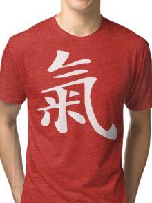 Chi Symbol [Ki, Qi] [Traditional Version] [White]   Chinese Symbology Tri-blend T-Shirt