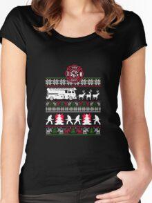 Firefighter X-Mas Women's Fitted Scoop T-Shirt