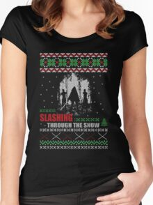 The Walking Dead - Michonne Ugly Christmas Sweater! Women's Fitted Scoop T-Shirt