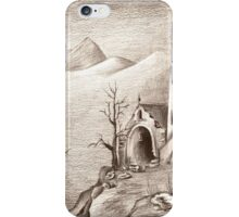 abandoned castle in empty land iPhone Case/Skin