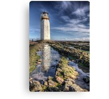 Southerness Lighthouse HDR photo Dumfries and Galloway Canvas Print