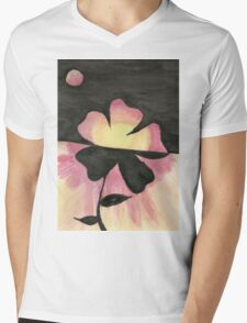 Warm Flower Mens V-Neck T-Shirt