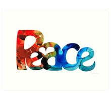 Peace Full 12 Symbol Art by Sharon Cummings Art Print