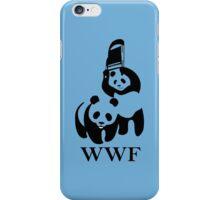 wwf panda wrestling iPhone Case/Skin