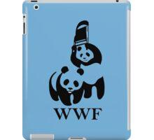 wwf panda wrestling iPad Case/Skin