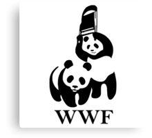 wwf panda wrestling Canvas Print