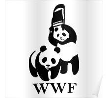 wwf panda wrestling Poster