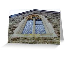 Tall windows at Knowsbury Church Greeting Card